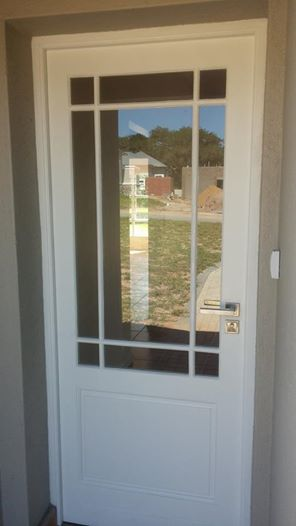 Exeternal meranti doors in Nelspruit