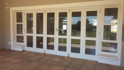 Wooden stack and fold doors Nelspruit